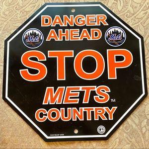 Mets Door Sign